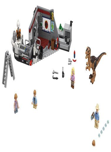 Lego LEGO Jurassic World Velociraptor Chase Renkli